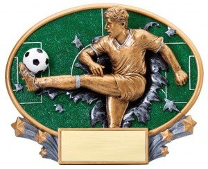 Male Soccer Explosion Oval Trophy