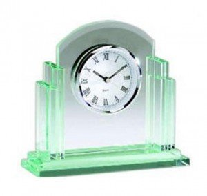 Jade Glass Clock Q404