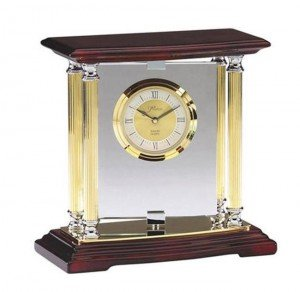 Rosewood and Glass Clock