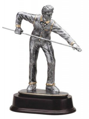 Billiards Player Trophy