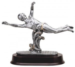 Male Swimming Resin Trophy