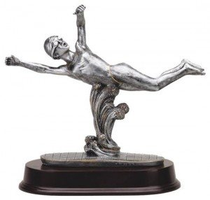 Female Swimming Resin Trophy