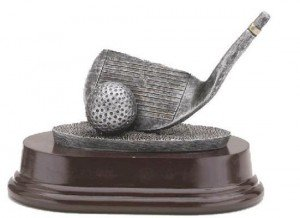 Golf Club Wedge Trophy 4 Inch