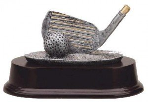 Golf Club Wedge Trophy