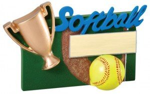 Softball Winners Cup Resin Trophy