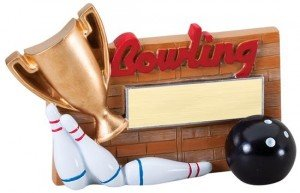 Bowling Winners Cup Resin Trophy
