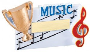 Music Winners Cup Resin Trophy