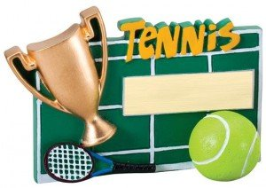 Tennis Winners Cup Resin Trophy