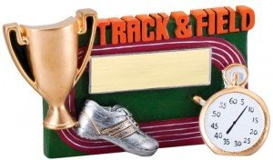 Track and Field Winners Cup Resin Trophy