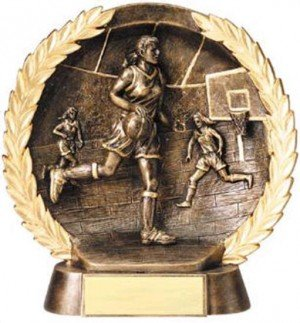 Female Basketball Trophy 7 1/2 Inch