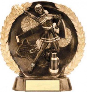 Cheerleader Trophy 7 1/2 Inch