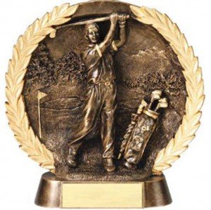 Male Golf Trophy 7 1/2 Inch