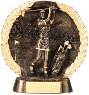 Female Golf Trophy 7 1/2 Inch