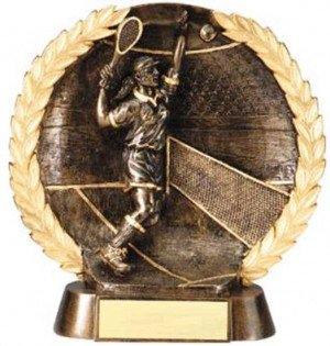 Female Tennis Trophy 7 1/2 Inch