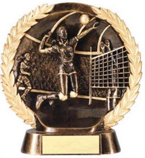 Female Volleyball Trophy 7 1/2 Inch