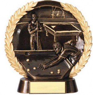 Billiards Trophy 7 1/2 Inch