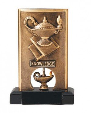 Lamp of Knowledge Spinning Trophy