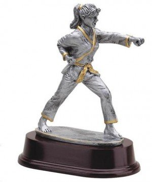 Female Karate Strike Trophy
