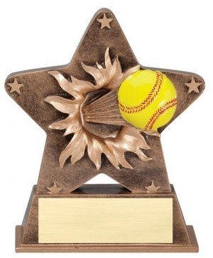 Softball Starburst Stand Resin