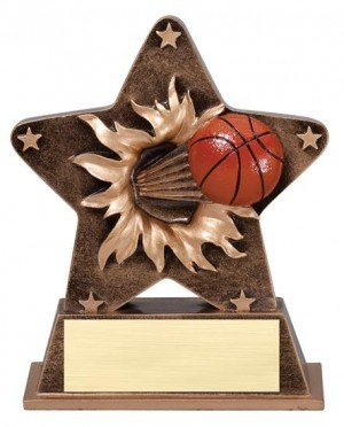 Basketball Starburst Stand Resin