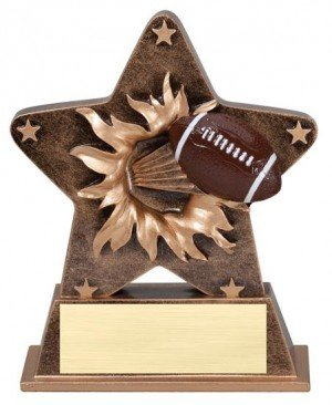 Football Starburst Stand Resin