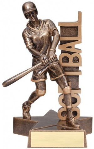 Softball Player Billboard Trophy