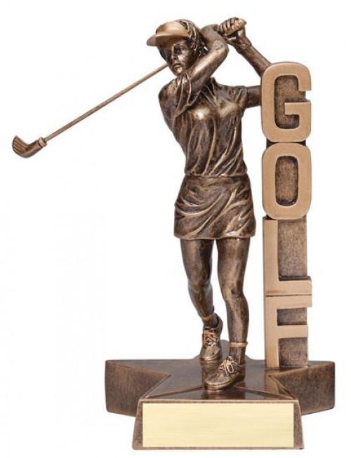 Female Golfer Billboard Trophy