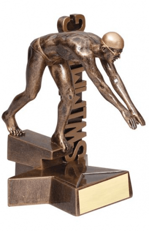 Male Swimmer Billboard Trophy