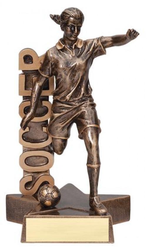 Female Soccer Player Billboard Trophy