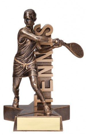 Female Tennis player Billboard Trophy
