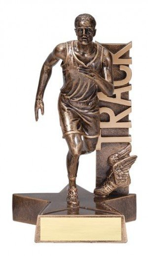 Male Track Runner Billboard Trophy