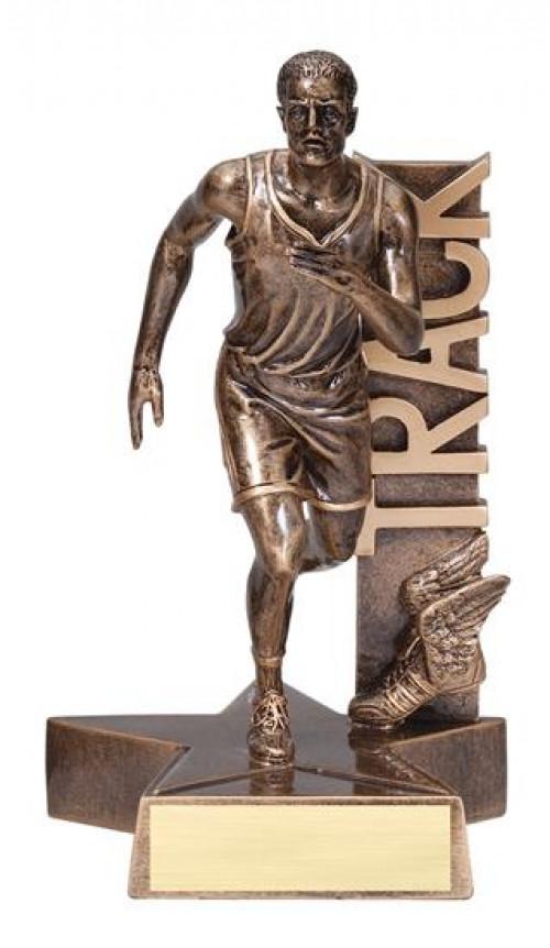 Male Track Runner Billboard Trophy