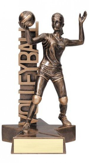 Female Volleyball Player Billboard Trophy