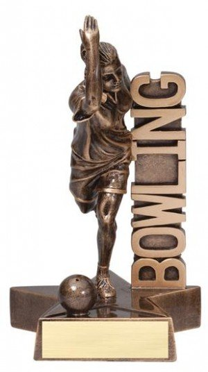 Female Bowler Billboard Trophy