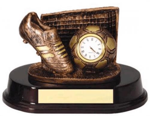 Soccer Clock Trophy