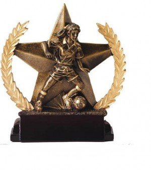 Female Soccer Star Trophy