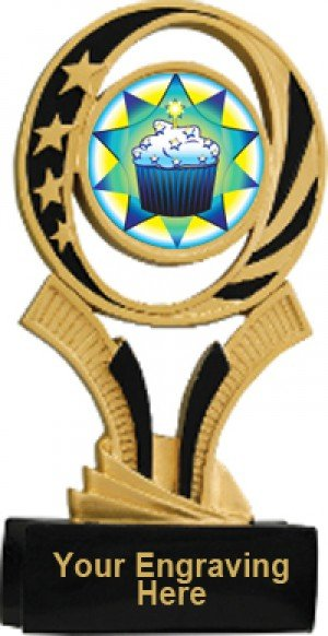 Cupcake Midnite Star Resin Trophy