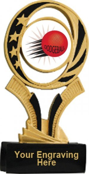 Dodgeball Midnite Star Resin Trophy