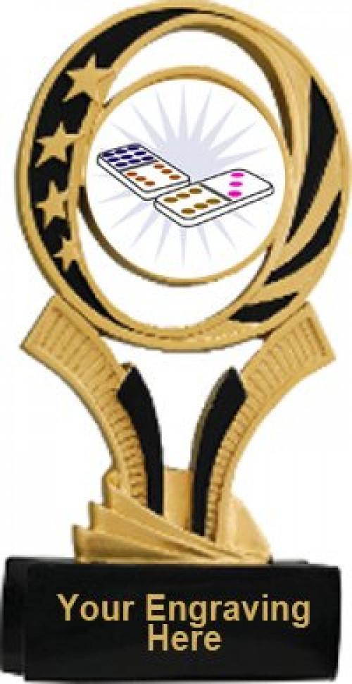 Domino Midnite Star Resin Trophy