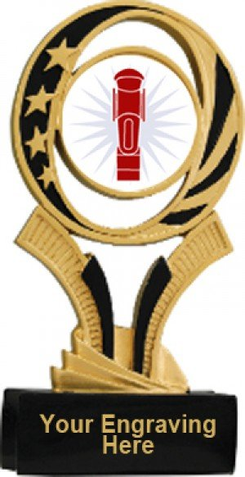Foosball Midnite Star Resin Trophy