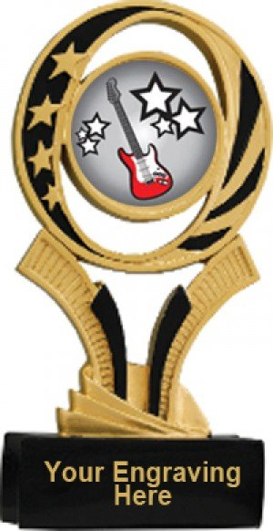 Guitar Midnite Star Resin Trophy