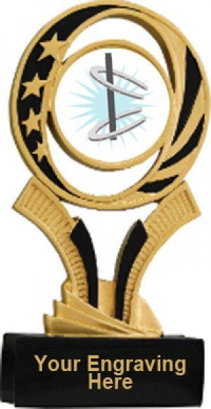 Horseshoe Midnite Star Resin Trophy