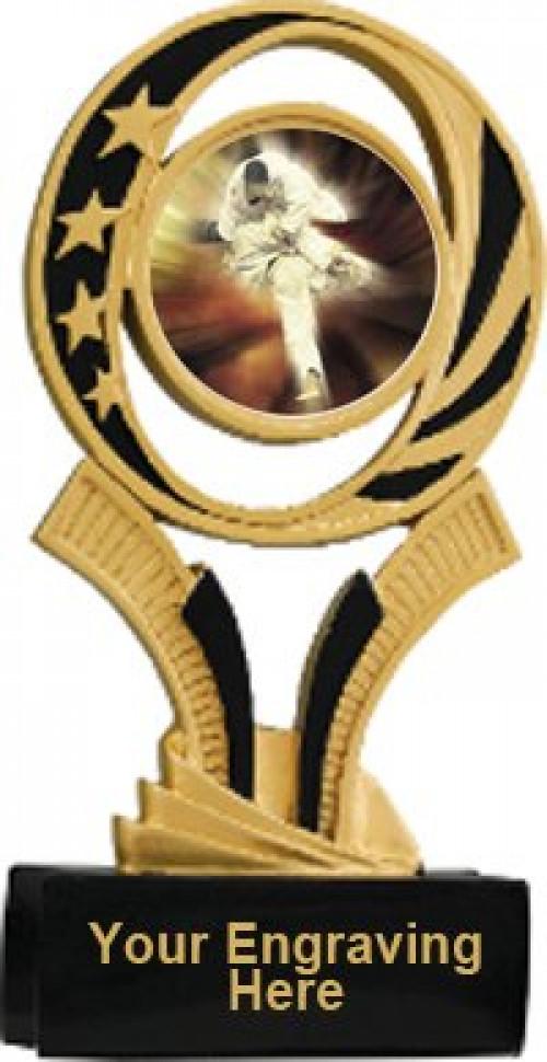 Karate Midnite Star Resin Trophy