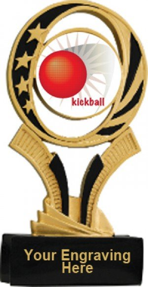 Kickball Midnite Star Resin Trophy