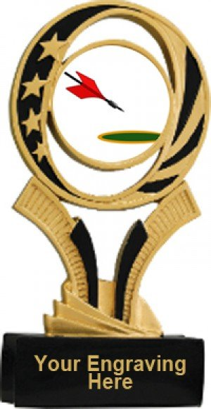 Lawn Dart Midnite Resin Trophy