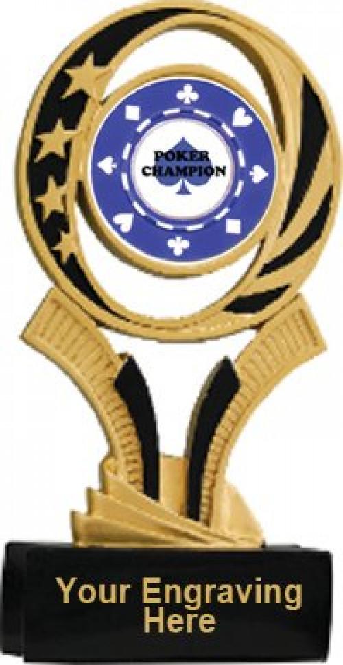 Poker Midnite Star Resin Trophy