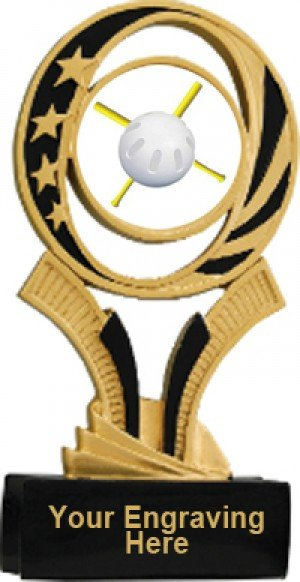 Wiffle Ball Midnite Star Resin Trophy