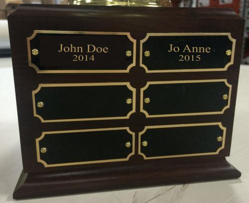 Lawn Dart Traveling Trophy