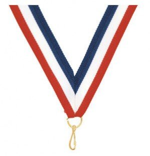 Basketball Red White and Blue Medal