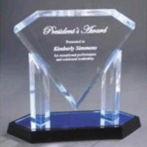 Acrylic Blue Diamond Award